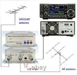 144mhz + 432mhz to 28mhz for ICOM IC-7300 Highly Stable Transverter VHF UHF 12W