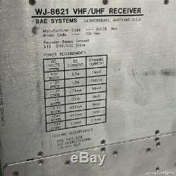 20-2700Mhz SURVEILANCE RECEIVER HF UHF VHF WJ-8621 WATKINS JOHNSON