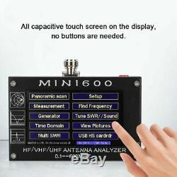 2020 Mini600 4.3 Touch LCD 0.1-600MHz HF/VHF/UHF ANT SWR Antenna Analyzer Meter
