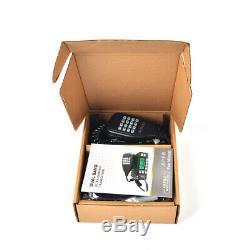 2PCS Dual Band 144/430 MHz Mini Amateur Car Vehicle Mobile Radio+Program Cable