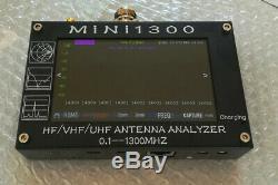 4.3 LCD Mini1300 0.1-1300MHz HF/VHF/UHF ANT SWR Antenna Analyzer Meter Tester