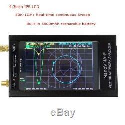 50KHz-1000MHz NanoVNA-F 4.3 LCD Display HF VHF UHF VNA Vector Network Analyzer