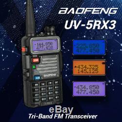 5x Baofeng UV-5RX3 Tri-Band V/UHF 1.25M DTMF VFO Two way Radio + 220MHz Antenna