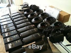(8) MOTOROLA HT750 PORTABLE RADIOS VHF 136-174MHz 16ch AAH25KDC9AA3AN XTS GP CP