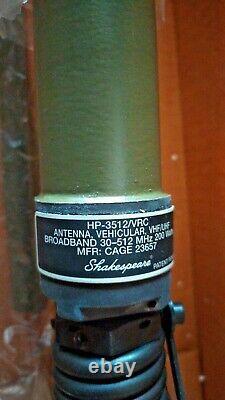 Antena militar VHF UHF HP 3512 30-512 Mhz Shakespeare NUEVA EN CAJA Jeep
