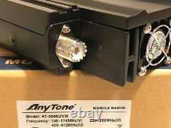 AnyTone AT-5888UV III Tri-Band Analog 144/220/440 MHz Mobile Radio US Seller
