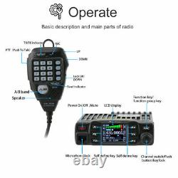 AnyTone AT-778UV 25W Dual Band 136-174 & 400-480MHz Walkie Talkie + USB cable