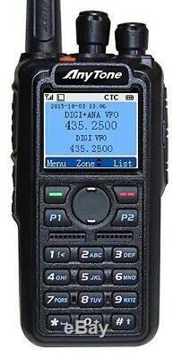 Anytone AT-D878UV VHF/UHF 136-174/400-480 MHz DMR Handheld Transceiver with GPS