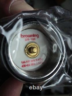 BR-180 Browning DUAL BAND ANTENNA 2 METER 144 / 440 Mhz NMO 3 dB VHF 6 dBd UHF
