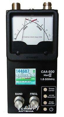 Comet CAA-500 Mark II 1.8-500 MHZ Graphic / Analog Antenna Analyzer For Ham CB