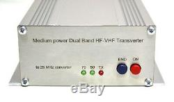 Dual Band 50 + 70 to 28 MHz 10Watts ASSEMBLED TRANSVERTER VHF UHF 28mhz