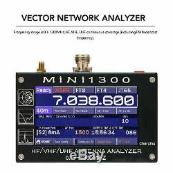 HF/VHF/UHF Antenna Analyzer 0.1-1300MHz Vector Network Analyzer 4.3 LCD Display