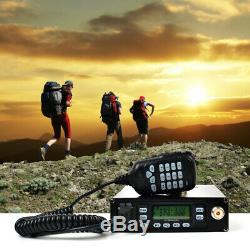 HYS 25W Dual Band 144/480MHz FM Car Ham Mobile Transceiver With 12000 Battery