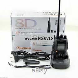 Handheld Amateur VHF/UHF Wouxun KG-UV8D + Earbud 136-174 & 400-480 MHz walkie