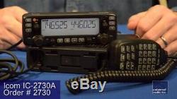 ICOM IC-2730A 137-174/400-470Mhz Dual Band Mobile Radio Transceiver