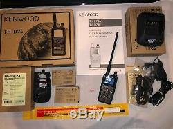 Kenwood TH-D74A 144/220/430MHz Tri-Band D-Star APRS HT Handheld Radio withExtras