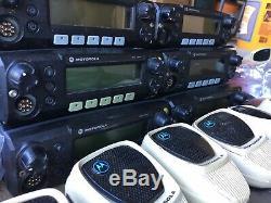 Lot of 6 Motorola XTL2500 800mhz P25 digital mobile radios M21URM9PW1AN XTL 800