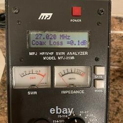 MFJ-259B SWR Standing Wave Ratio Radio Antenna Analyzer 1.8-170 Mhz Meter