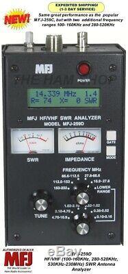 MFJ-259D SWR Antenna Analyzer 100-160 KHz 280-520KHz 530KHz-230MHz MFJ-259C