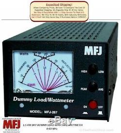 MFJ-267 Dry Dummy load, SWR/Wattmeter, 1500 Watts, 0-60 Mhz