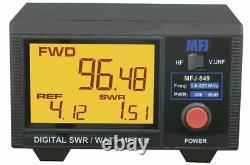 MFJ-849 Digital SWR/Wattmeter, HF/VHF/UHF, 1.6-60 & 125-525 MHz MHz 200W