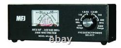MFJ-864 HF/VHF/UHF (1.8-60/144/440 MHz) Cross Needle SWR/Wattmeter, 30/300W