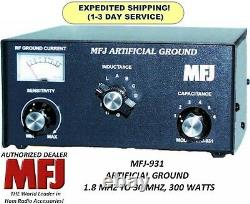 MFJ-931 Artificial Ground, 1.8 MHZ TO 30 MHZ, 300 Watts, Eliminate RF Hot Spots
