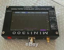 MINI1300 0.1-1300mhz HF/VHF/UHF Antenna Analyzer Capacitive Touch Screen SWR