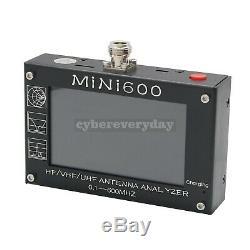 MINI600 HF/VHF/UHF Antenna Analyzer 0.1-600MHZ with 4.3 TFT LCD Touch Screen