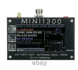 Mini1300 0.1-1300MHz HF/VHF/UHF ANT SWR Antenna Analyzer Meter Frequency Sweep