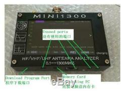 Mini1300 4.3 LCD 0.1-1300MHz HF/VHF/UHF ANT SWR Antenna Analyzer Meter Tester