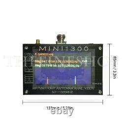 Mini1300 4.3LCD 0.1-1300MHz HF/VHF/UHF ANT SWR Antenna Analyzer Meter Tester US