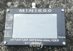 Mini600 4.3 Touch LCD 0.1-600MHz HF/VHF/UHF ANT SWR Antenna Analyzer Meter