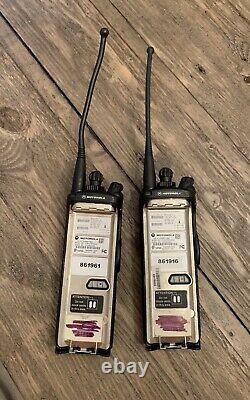 Motorola XTS 5000 Model II H18UCF9PW6AN 700 / 800Mhz Two Way Radio (Lot Of 2)