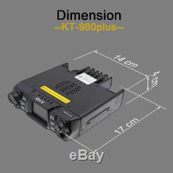 QYT KT-980 plus 136-174/400-480MHz 200CH 5 Tone 75W Mobile Car Radio Transceiver