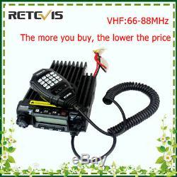 Retevis RT-9000D Scrambler VHF 66-88MHz Mobile Car Ham Radio 200CH 60W DTMF