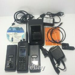 THALES Liberty PRC7332 -FPP- Portable hand held in great shape VHF-UHF- 800mhz