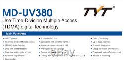 TYT MD-UV380 GPS model Dual Band 144&430MHz DMR Digital/Analog Radio US Seller