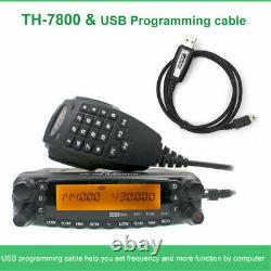 TYT TH-7800 Mobile Radio High power transceiver 136-174&400-480MHz 50W VHF