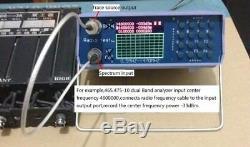 U/V UHF VHF Dual Band Spectrum Analyzer withTracking Source 136-173MHz/400-470MHz