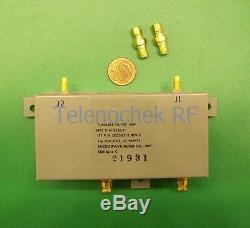 VHF UHF RF tunable bandpass filter BPF 90-150 MHz, 200kHz BW, power 15Watt, data
