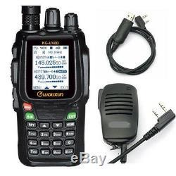 VHF/UHF Wouxun KG-UV8D + Speaker mic + USB cable 136-174&400-480 MHz 5w Handheld