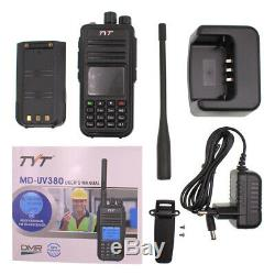 With GPS TYT MD-UV380 DMR Digital Radio Dual Band 144&430MHz Walkie Talkie + USB