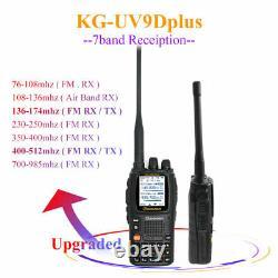 Wouxun KG-UV9DPlus 7 Bands Walkie Talkie UV 136-174&400-512MHz DTMF FM Radio