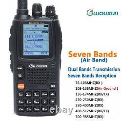 Wouxun KG-UV9Dplus 7 Band Walkie Talkie UV 136-174&400-512MHz 2 Way Radio + USB