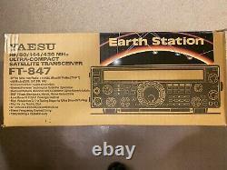 YAESU FT-847 Amateur Radio Ultra-Compact Satellite Transceiver HF/50/144/430 Mhz