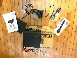 Yaesu FT-450D Amateur Ham HF/50MHz Transceiver Radio CIB barely used with extras
