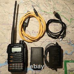Yaesu FT-70DR 144/430 MHz 5W Handheld Transceiver with Extras & MAR/CAP Mod