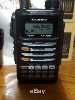 Yaesu FT-70DR C4FM FDMA / FM 144/430 MHz DUAL BAND 5W Handheld Transceiver BOX