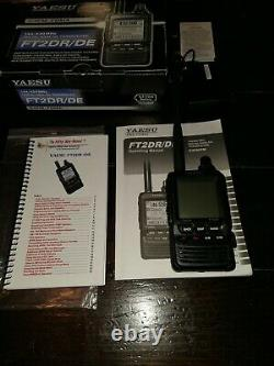 Yaesu FT2DR/DE 144/430MHz Digital/Analog Transceiver- Flawless -Complete in Box
